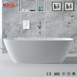 Florida square composite stone bathtub and showers ofuro bathtub for fat people