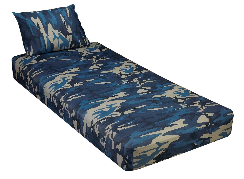 Jersey Knit 2 pc. Cot Size Camp Sheet & Pillowcase - CAMOUFLAGE