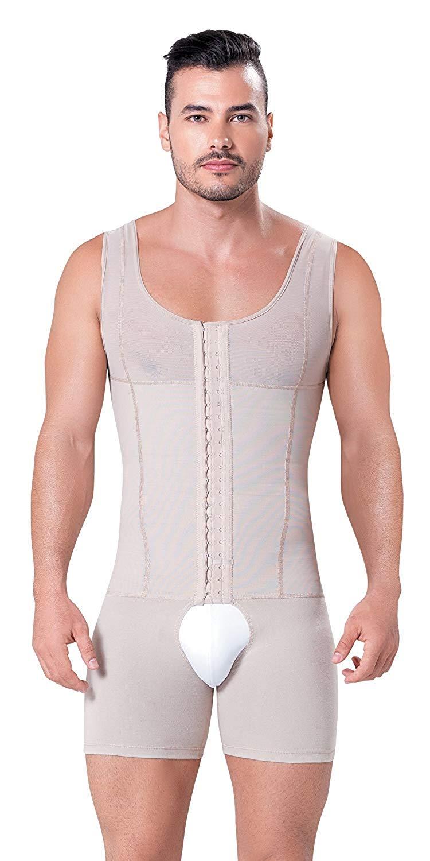 34a316950df Get Quotations · Fajitex Compression Garments Fajas Colombianas Para Hombre Bodysuit  Shapewear Shirt Girdle for Men Shaper Liposuction