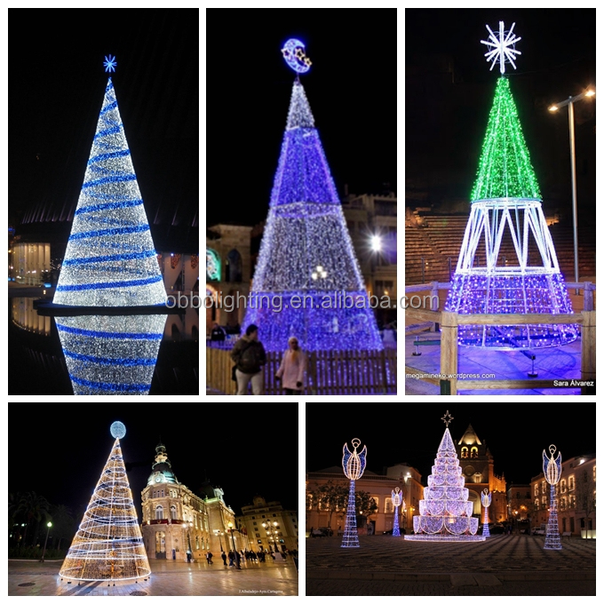 led spiral tree white outdoor lighted christmas trees giant christmas tree - Outdoor Led Christmas Tree