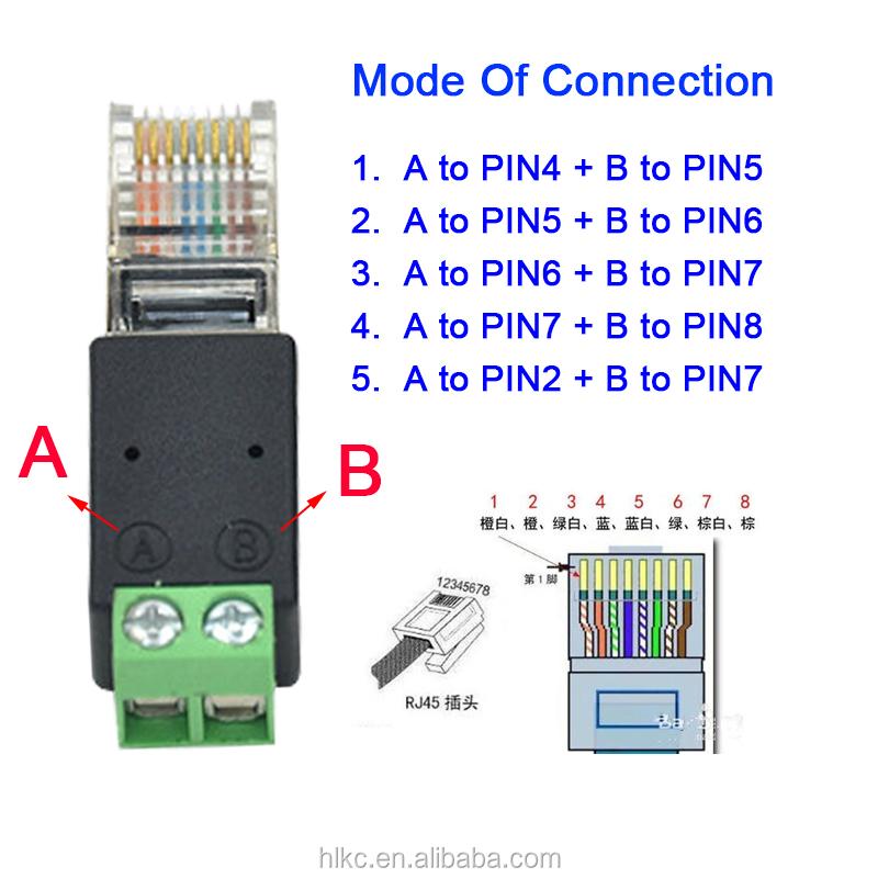 Conector A Rj45 Ethernet Macho Conector Convertidor