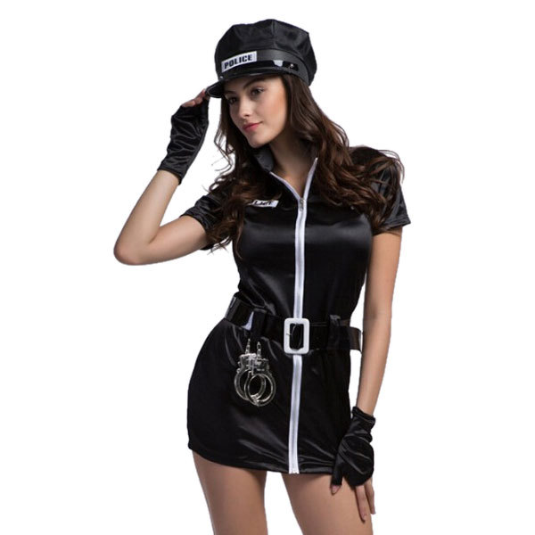 Get Quotations · Newly Style 2015 CA5327 Zipper Front Black Short Sleeve Police Uniform Woman Halloween Sexy Cop Outfit  sc 1 st  Shopping Guide - Alibaba & Cheap Sexy Cop Girl find Sexy Cop Girl deals on line at Alibaba.com