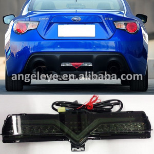 for Valenti forSubaru BRZ GT86 LED rear Bumper Light 2013-2014 year Smoke Black LH