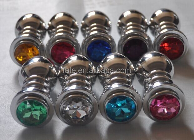 Stainless Steel Metal Jeweled Crystal Butt Plug Anal Insert Sexy Stopper Toy
