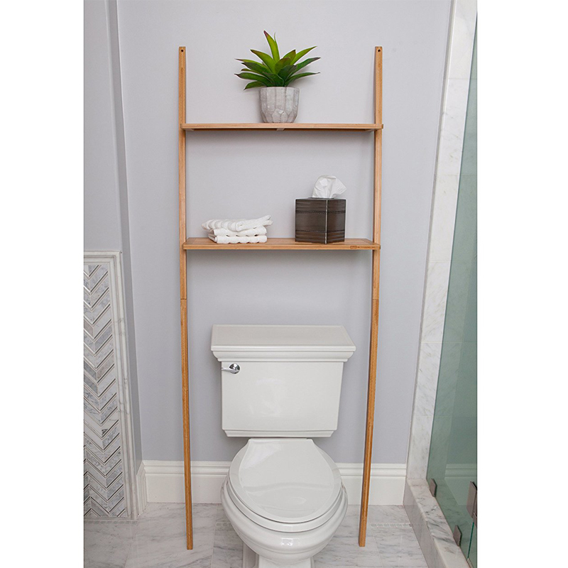 Bathroom Organizer Over The Toilet,Bathroom Space Saver Bamboo 2 Tier Shelf  Waterproof Free Standing Bathroom Shelves - Buy Bathroom Space ...