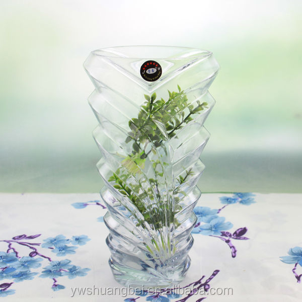 Twill Colorful Art Glass Vase Spiral Handblown Logo Home Decal Wedding Centerpieces Vase