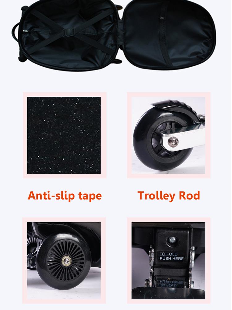Подгонянный чемодан багажа прокатки, случай складная тележка путешествовать малыша багаж скутер