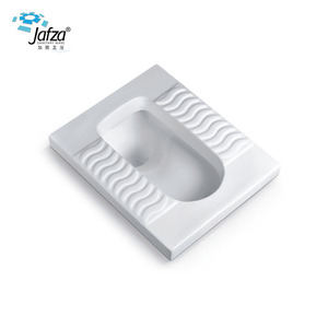 O-8010B Factory direct supply white pans squating plastic squatting pan ceramic squat toilet with low price