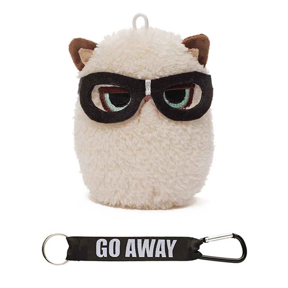 "Gund Grumpy Cat Mini Plush with Glasses, 4"""