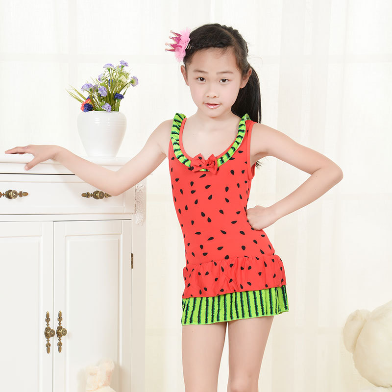 32c0efdfa4 Get Quotations · 2015 New Children Girl Swimsuit Kids Swimwear Cute  Watermelon For Kid Student Cute Baby Girl Swimsuits