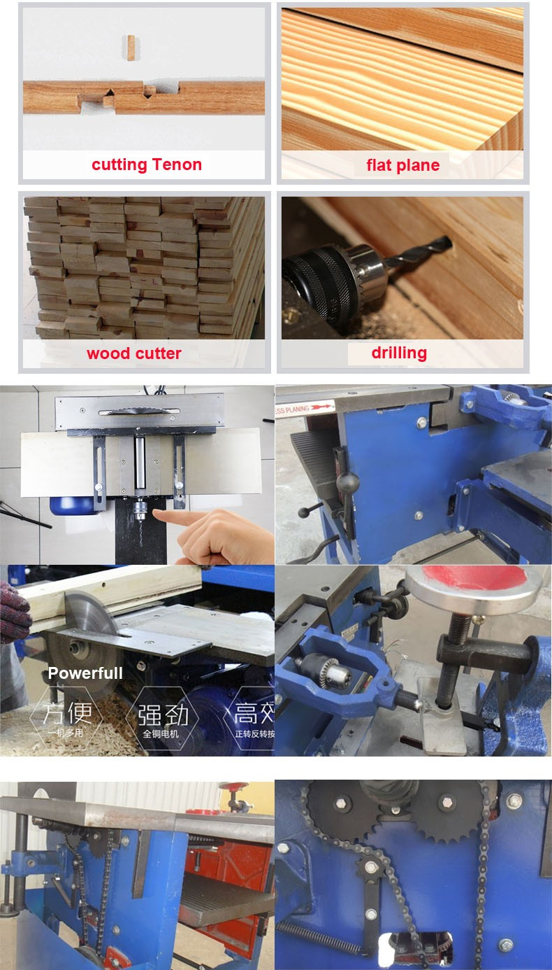 Combination Functional Thicknesser Wood Working Planer Multi Woodworking Tools Planer Machine