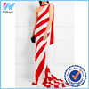 Yihao 2018 ladies one-shoulder striped long evening party wear gown dresses