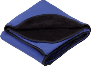 variety of colors 2 layer Fleece and Nylon blanket for picnic or travel