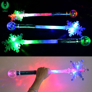 Christmas Gift Snowflake LED Magic Stick Magic Wands For Kids