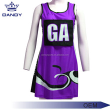 Free design customized netball jersey sportwear tennis netball dress uniform