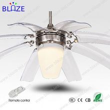 Modern Fashion 42inch electronic recoverable decorative ceiling fan with LED light
