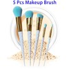 Private Label 5pcs Professional Cosmetic Unicorn Makeup Brushes Set Free Samples