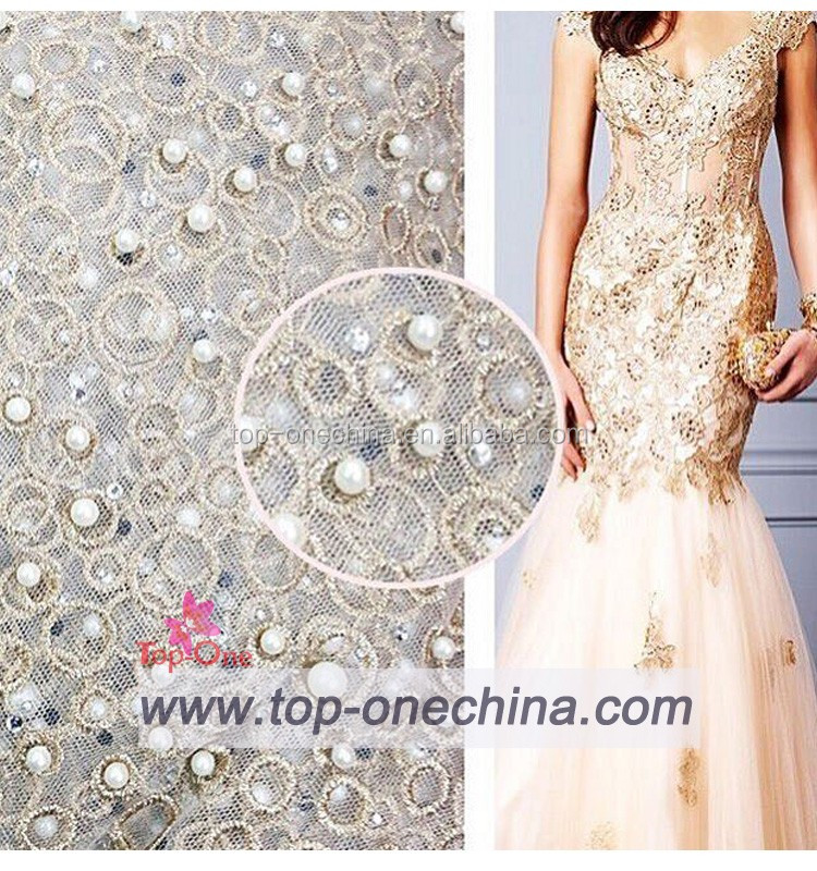 2018 Exclusive 3d Beaded Embroidery Lace Fabric/3d Beaded Bridal ...
