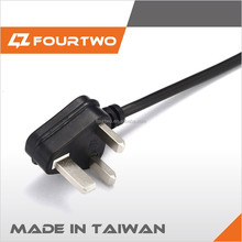 cac+ pvc UK socket type power cord with bs fused plug