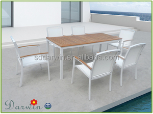 patio furniture aluminum powder coated wooden patio furniture outdoor teak wood long table