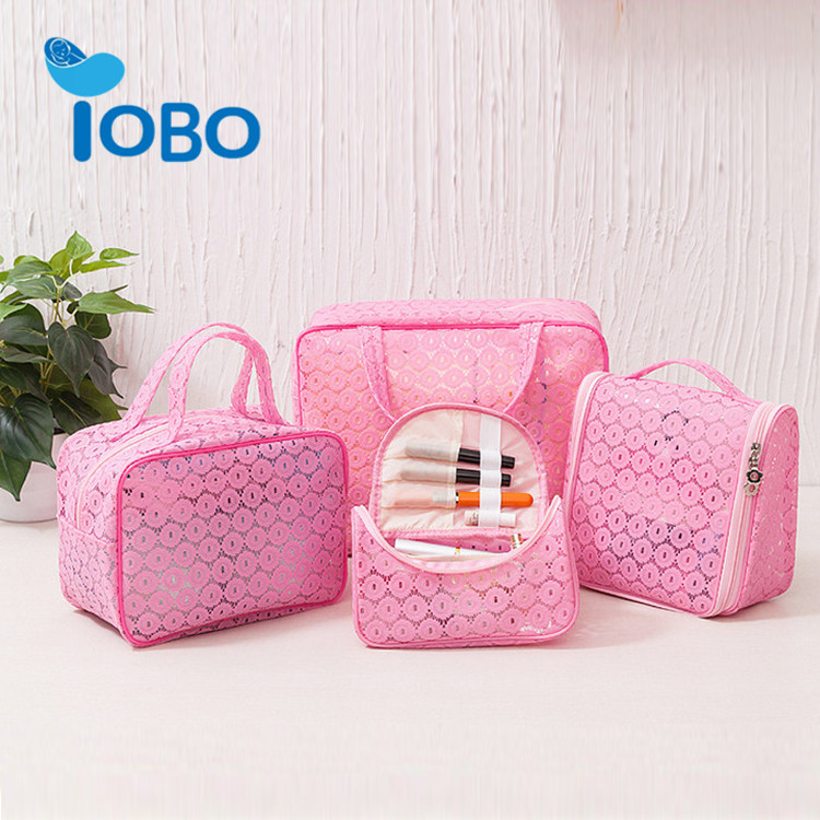 Fashion Personalized Cheap cosmetic makeup bag Custom Pvc cosmetic bag sets