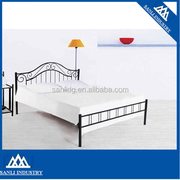 high headboard metal bed steel bed iron bed