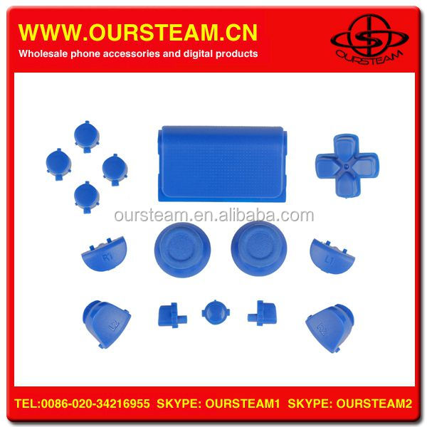 new arrival solid blue full set controller button for sony for Playstation 4 original in stock now