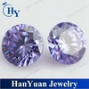Lavender synthetic round brilliant cut 3.0mm wholesale cubic zirconia