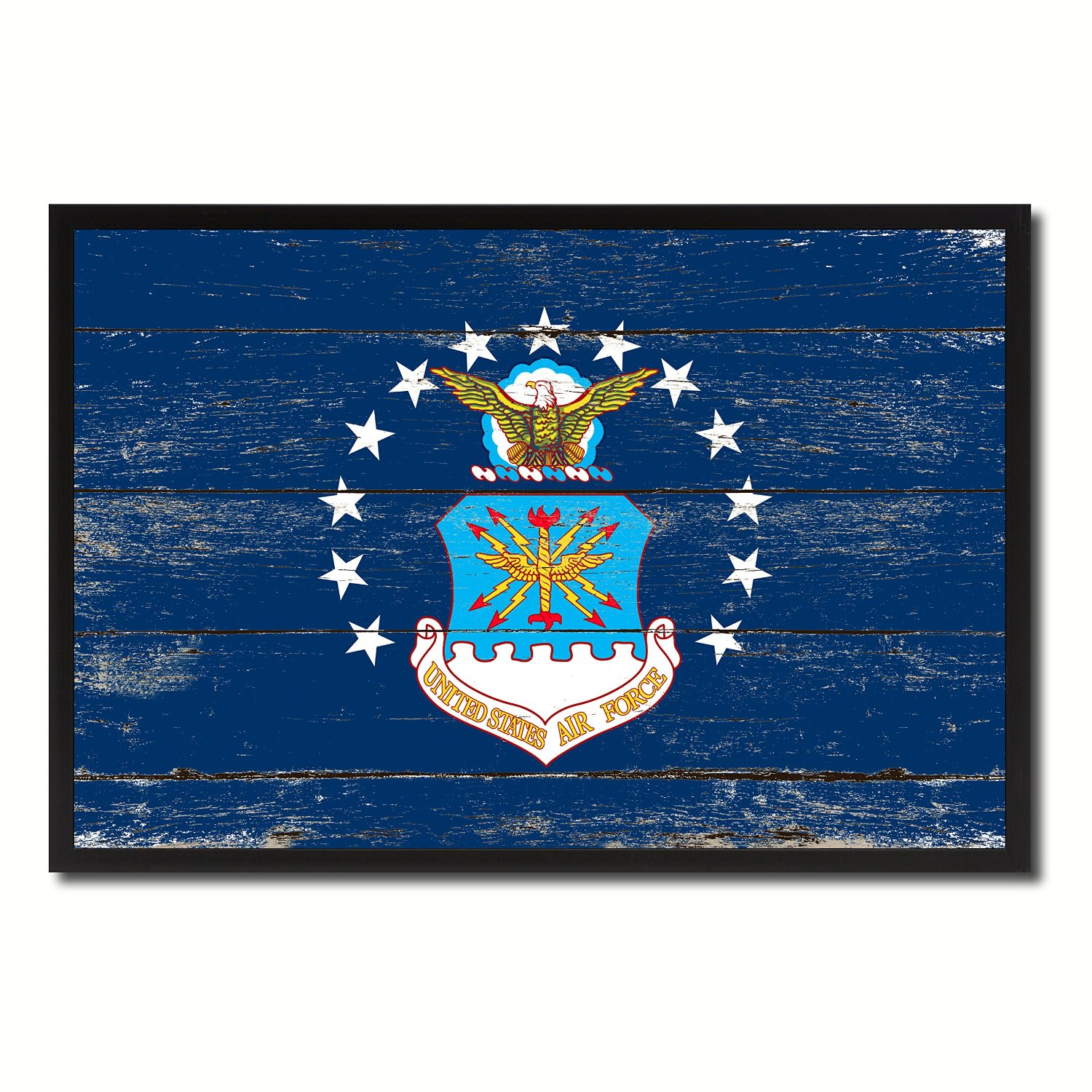 Buy Emblem Us Air Force Military Shabby Chic Flag Art Office