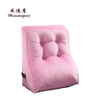Sofa Bed Big Fill Triangular Wedge Pillow Pillow 55x60cm Pink