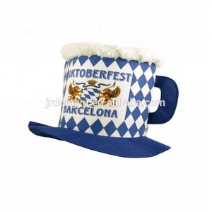 custom football fans 100% polyester beer party carnival hat