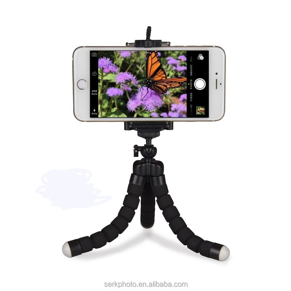 Phone Tripod Stand, TriFlex Mini Tripod Flexible OctopusPhone Tripod with Bluetooth Remote Shutter for Any Smartphone