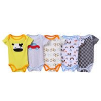 Wholesale 5 pack bodysuit adorable baby boy's clothes rompers