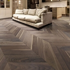 Bright color and high quality oak chevron parquet wood flooring