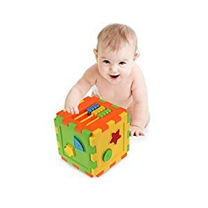 gangnumsky- Baby Toy Bricks Matching Blocks Baby Kids Intelligence Educational Sorting Box Toy Brand Children gifts