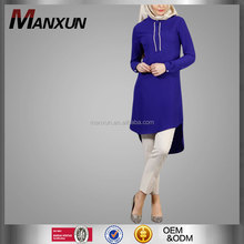 2016 Islamic Clothing For Girls Blouses Chiffon popular Muslim Tunic Wholesale Tops For Ladies Muslim Blouse /Tunic