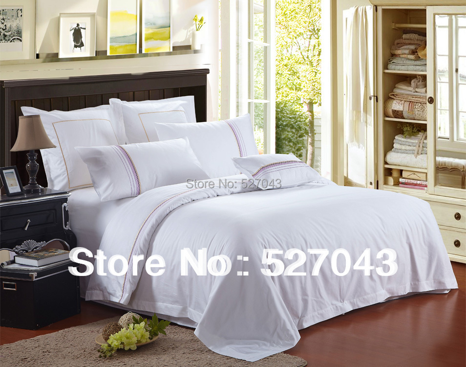 The White Dreamy Greek Style 7pcs 100Cotton Hotel Queen