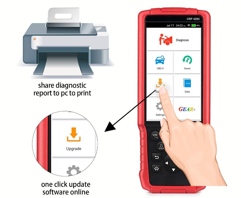 Baru Diluncurkan X431 CRP429C 4 Sistem OBDII Code Reader OBD2 Auto Alat Diagnostik CRP429 C CRP 429C Auto Scanner Lebih Baik dari CRP129