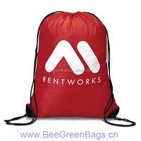 2015 Hot Cheap 210D Polyester denim drawstring bag with Reinforced Corner
