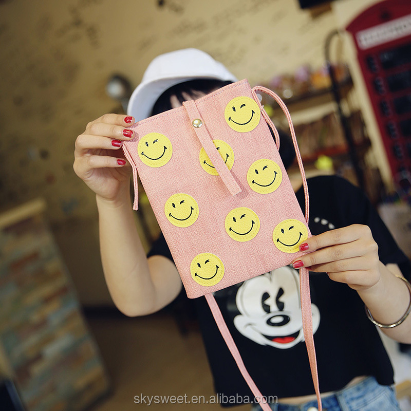 smiling face QQ emoji crossbody bags, coin purse emoji crossbody bags(SWTJU1848)