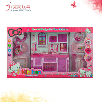 2030-6 plastic pink color kitchen play set toy kitchen set toy