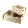 2016 new fashion natural color unfinished cheap wooden fruit crate