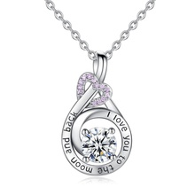 925 argento sterlina rosa cz cuore significato eterno <span class=keywords><strong>amore</strong></span> di coppia pendenti di <span class=keywords><strong>collana</strong></span>