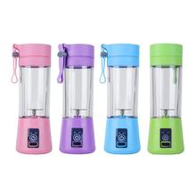 Groothandel plastic Elektrische fruit juicer 2/4/6 blades mini USB draagbare smoothie maker <span class=keywords><strong>blender</strong></span>