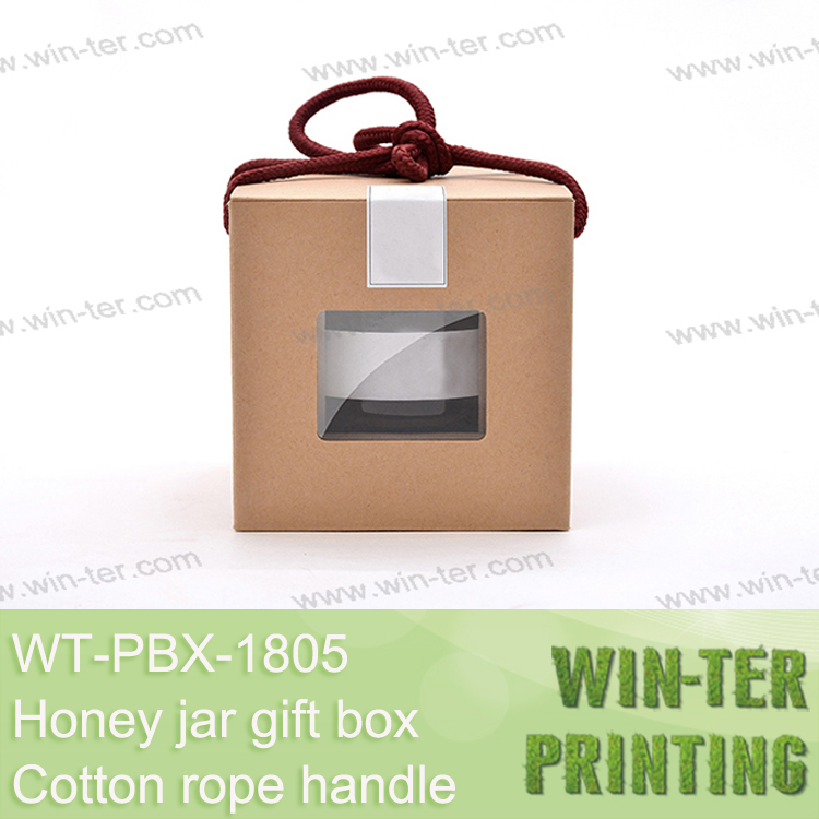 WT-PBX-1805 honey jar packaging with die cutting window