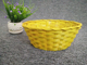 Wholesale Colorful Fruit Small Oval Net Cover Easter Bamboo Basket
