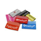 cheap cute logo end fold woven label