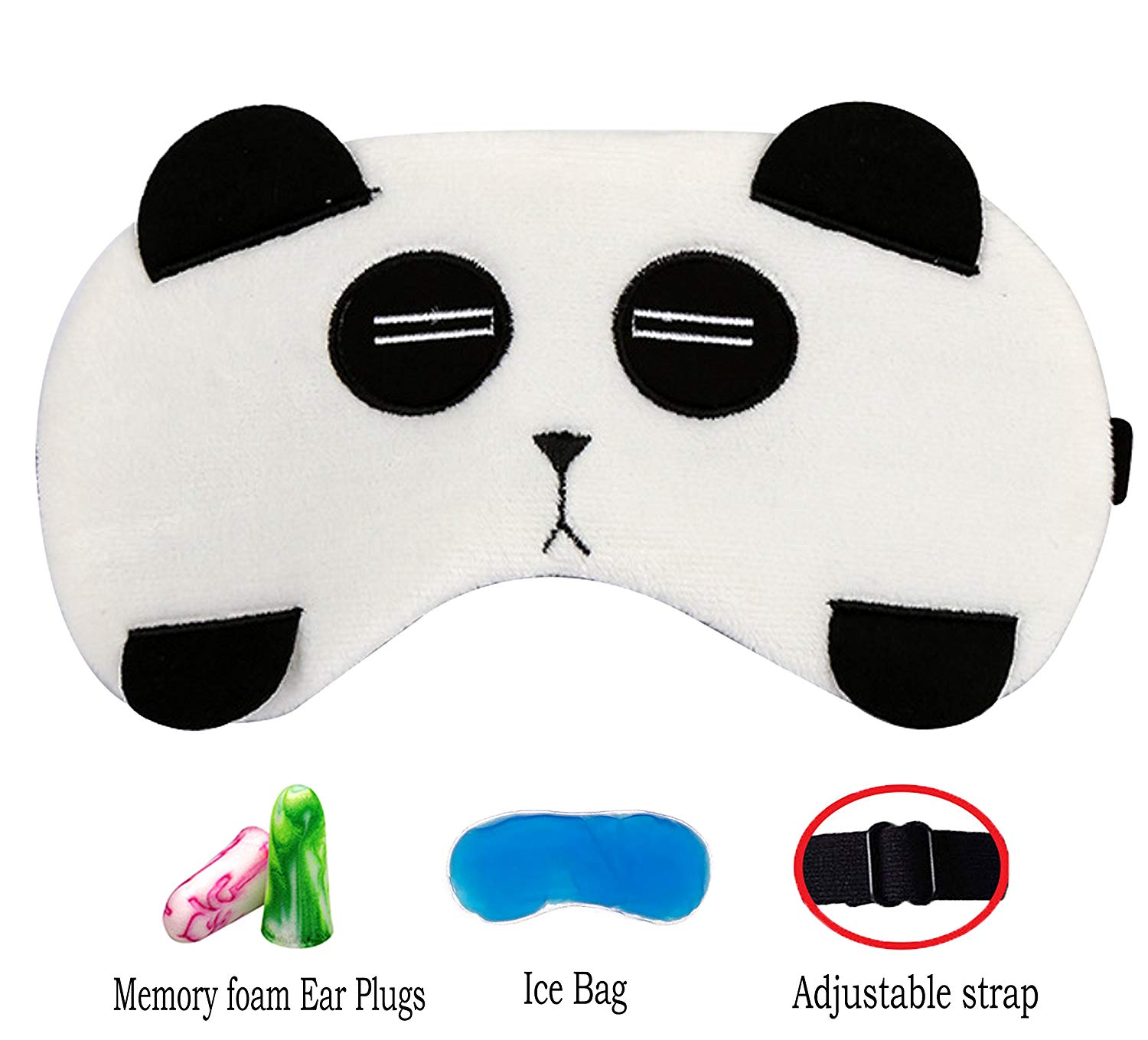 a087b33937e Get Quotations · Cute Animal Sleep Mask by Hitos