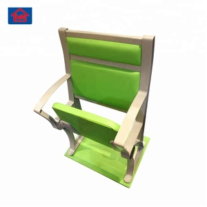 green color fasion synthetical leather furniture classroom used folding chair desk