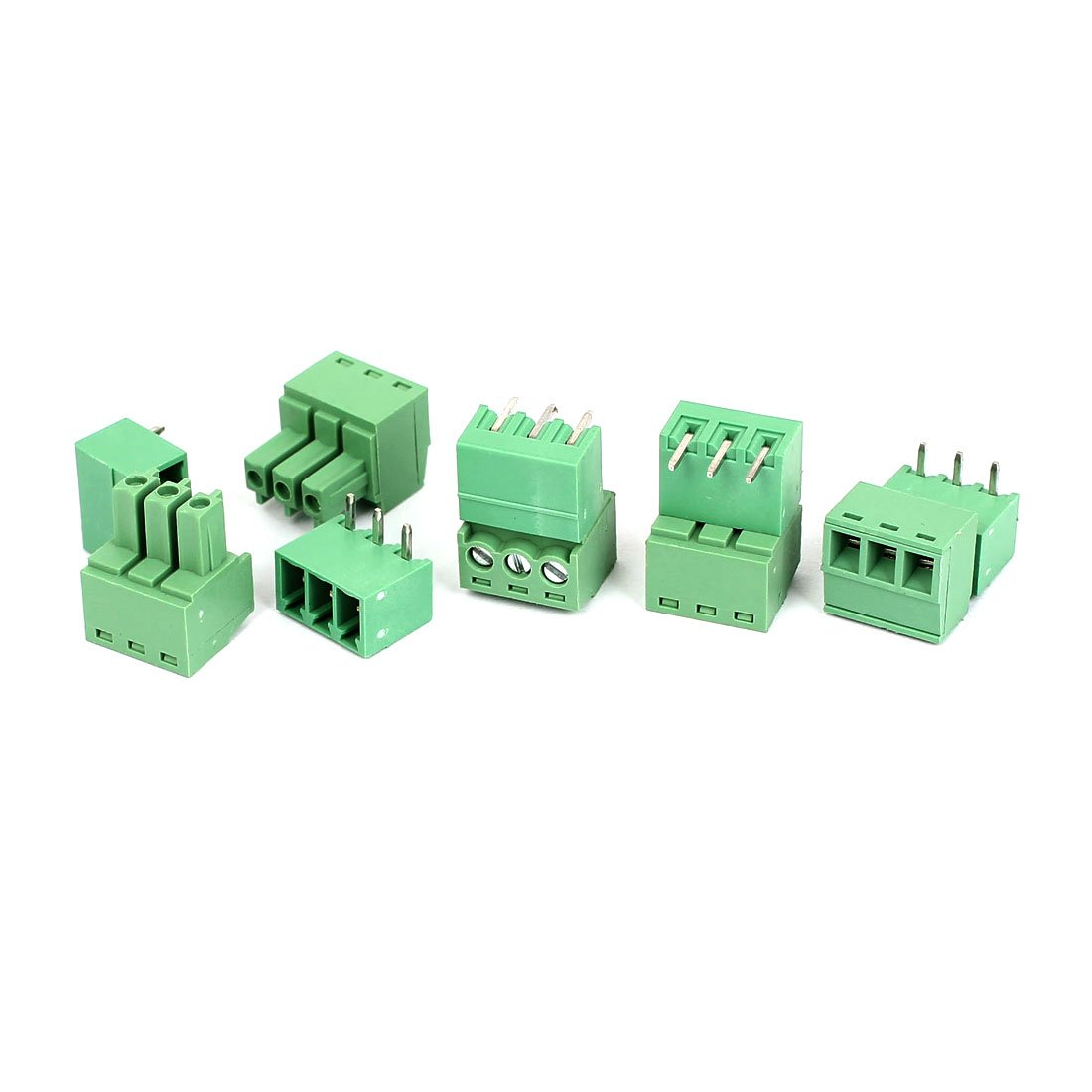 uxcell AC 300V 8A 3P 3.8mm Pitch PCB Screw Terminal Block Connector 5 Set